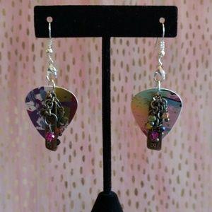 Jewelry - Handmade guitar pick earrings